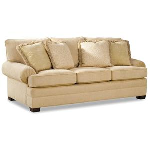 Upholstered Sofa with Low Profile Arms