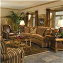 Huntington House 2061 Conversation Sofa with Curved Arms