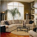 Huntington House 2061 Sectional Sofa with Low Profile Rolled Arms - 7076-Sect