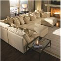 Huntington House 7100 Sectional Sofa - Item Number: 7100-3x51+31+62