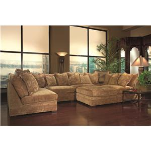Huntington House 7100 Contemporary U Shape Sectional Sofa