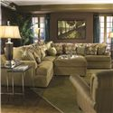 Huntington House 7100 Sectional Sofa - Item Number: 7100-53+2x51+31+52