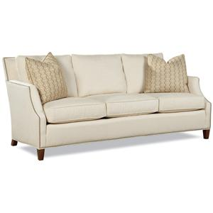 7115 Contemporary Sofa with Tapered Wood Legs by Huntington House
