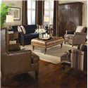 Huntington House 7121 Rolled Arm Chair with Nailhead Trim - Shown with Coordinating Sofa and Accent Chairs