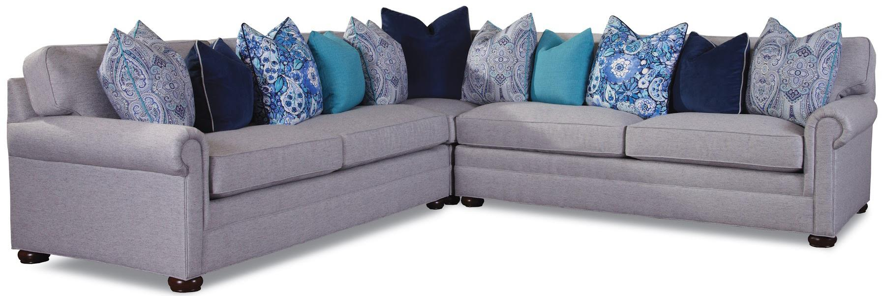 Huntington House 7169 Sectional - Item Number: 7169-43+31+42-61304-71