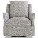 Huntington House 7270 Contemporary Swivel Glider Chair with Flare Tapered Arms