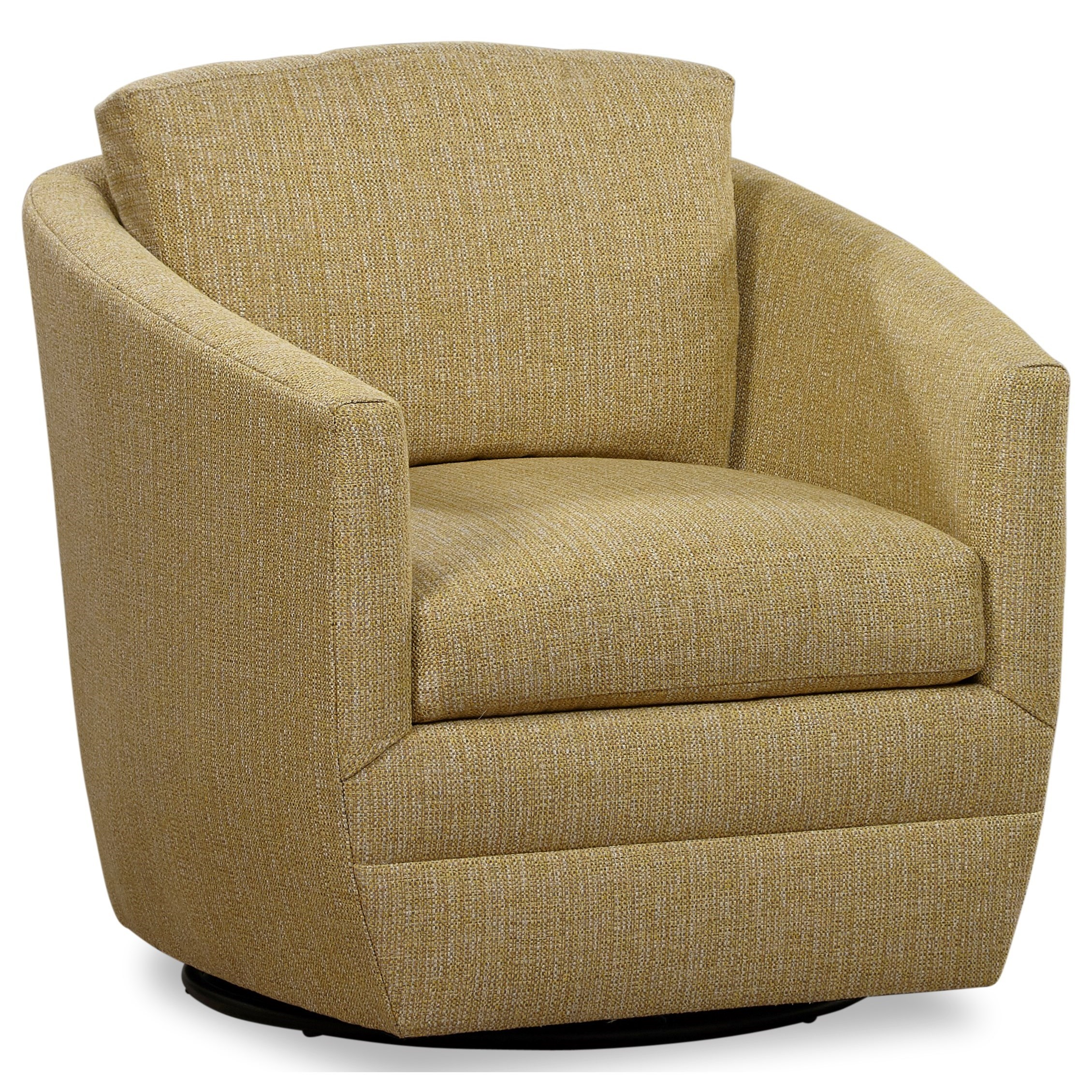 Upholstered Accent Swivel Barrel Chair