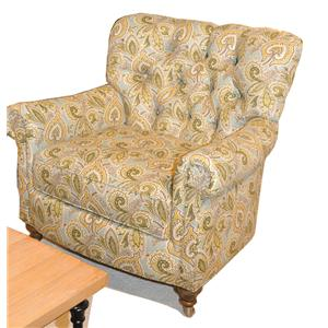 7381 Traditional Button-Tufted Chair with Casters by Huntington House
