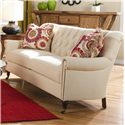 Huntington House 7381 Classic Sofa with Button Tufted Back and Nail Head Trim - 7381-20