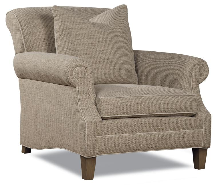7428 Casual Ultra Plush Chair With Large Accent Pillow By Huntington House