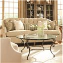 Huntington House 7438 Transitional Stationary Sofa with Button-Tufted Back