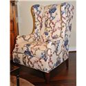Huntington House 7444 Traditional Wing Chair with Tapered Legs - 7444-50