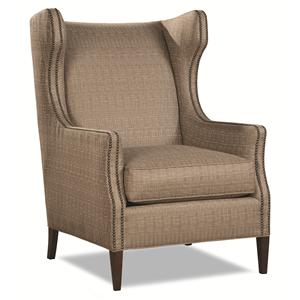 7446 Transitional Wing Chair by Huntington House
