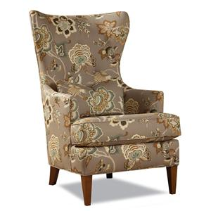 7460 Transitional Wing Chair with Low Profile Track Arms by Huntington House