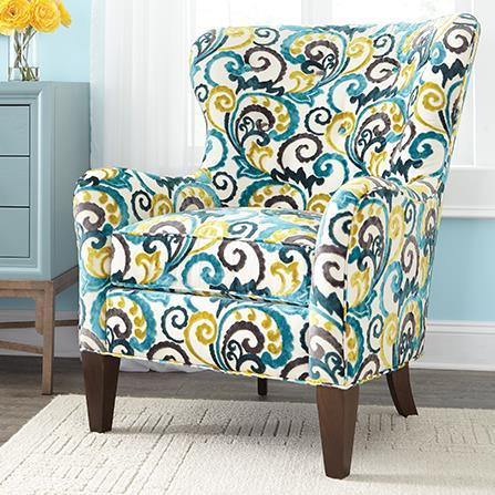 Huntington House 7475 Wingback Accent Chair - Item Number: 7475-50-30904-33