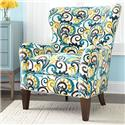 Geoffrey Alexander 7475 Wingback Accent Chair - Item Number: 7475-50-30904-33