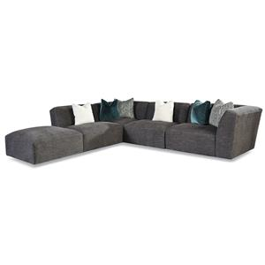 7722 Customizable Right Arm Facing Tight Back Sectional  by Huntington House