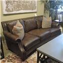 Huntington House clearance Johnson Leather Sofa - Item Number: 011507029