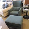 Huntington House clearance Swivel Chair & Ottoman - Item Number: 772056158