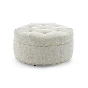Huntington House Ottoman Collection Customizable Round Cocktail Ottoman