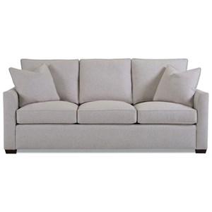 "84"" Tuxedo Arm Sleeper Sofa"