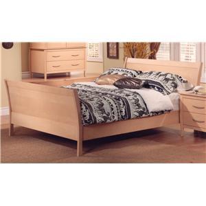 Huppe Nevada Contemporary Queen Sleigh Bed