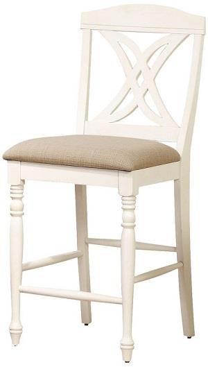 Butterfly back upholstered stool