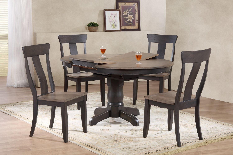 5 piece round dining set