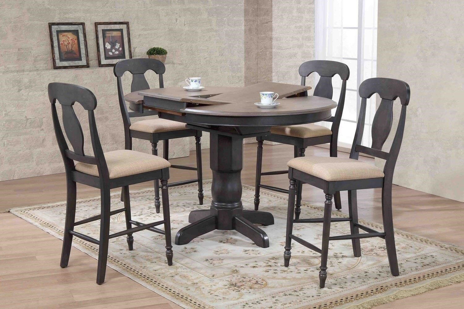 5 piece round counter height dining set