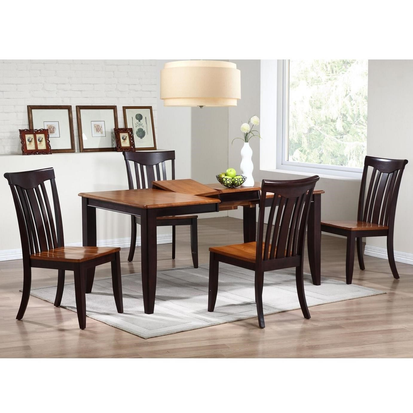 Whiskey Mocha 5 Piece Rectangular Dining Set by Iconic Furniture Co. at Dinette Depot