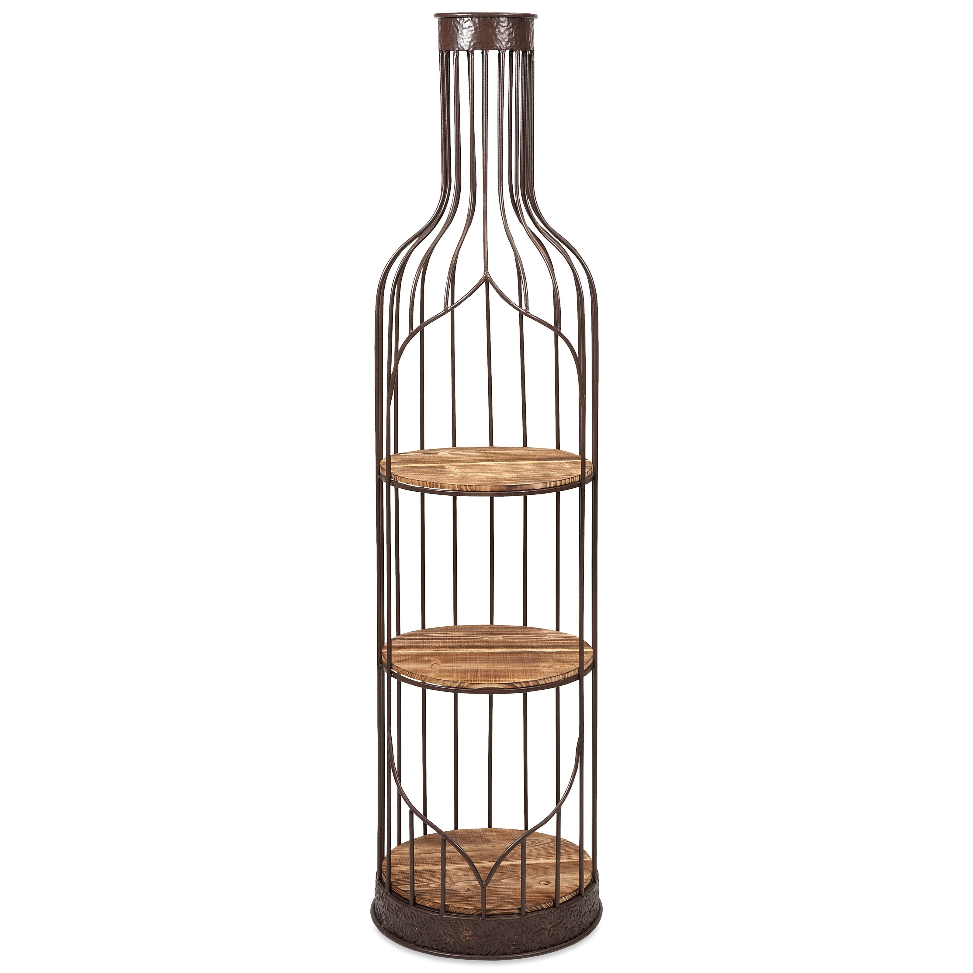 Accent Furniture Vino Wine Bottle Shelf by IMAX Worldwide Home at Alison Craig Home Furnishings