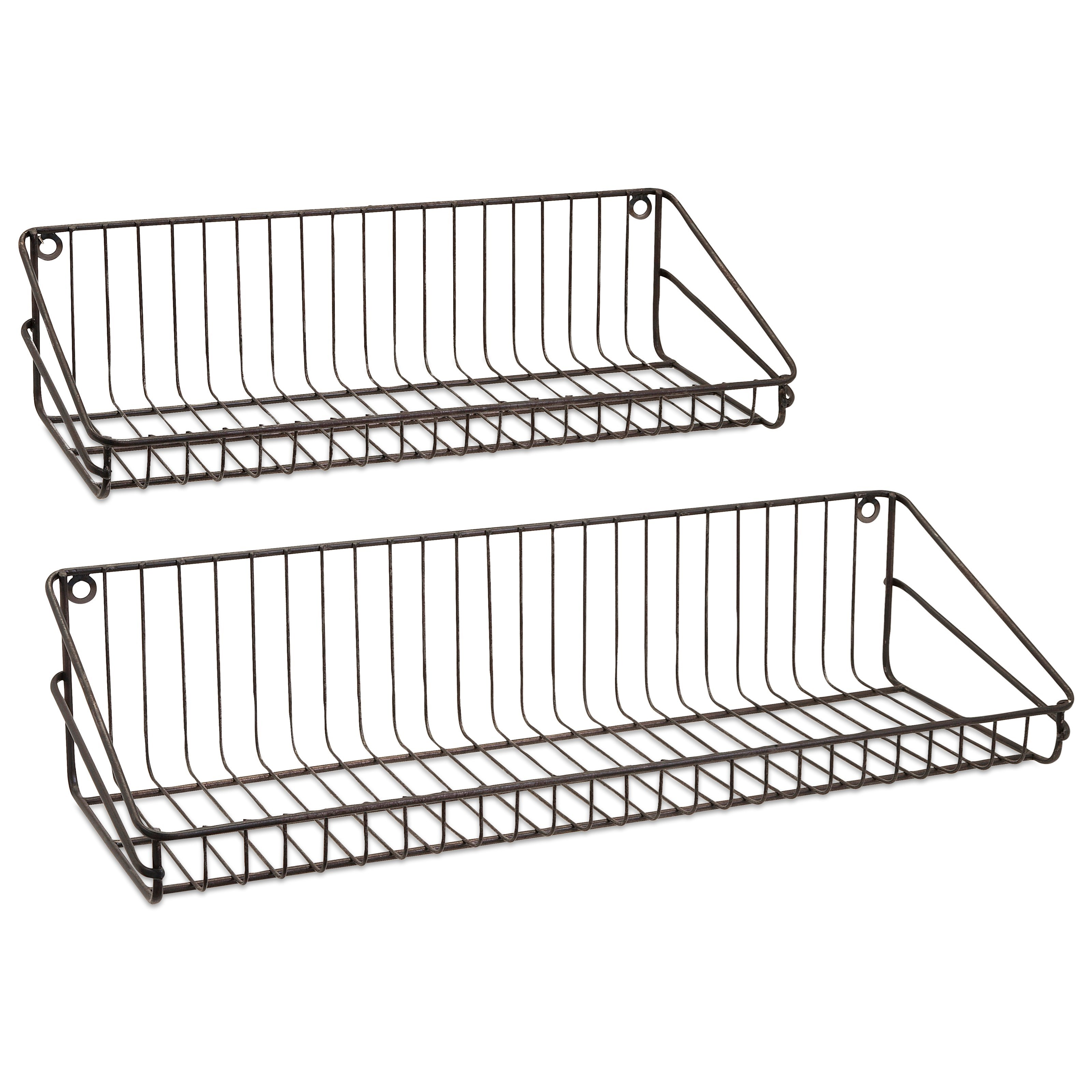 Accent Furniture Ludovic Wall Shelf - Set of 2 by IMAX Worldwide Home at Alison Craig Home Furnishings