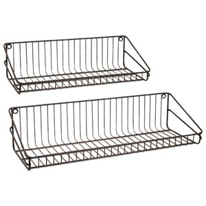 IMAX Worldwide Home Accent Furniture Ludovic Wall Shelf - Set of 2