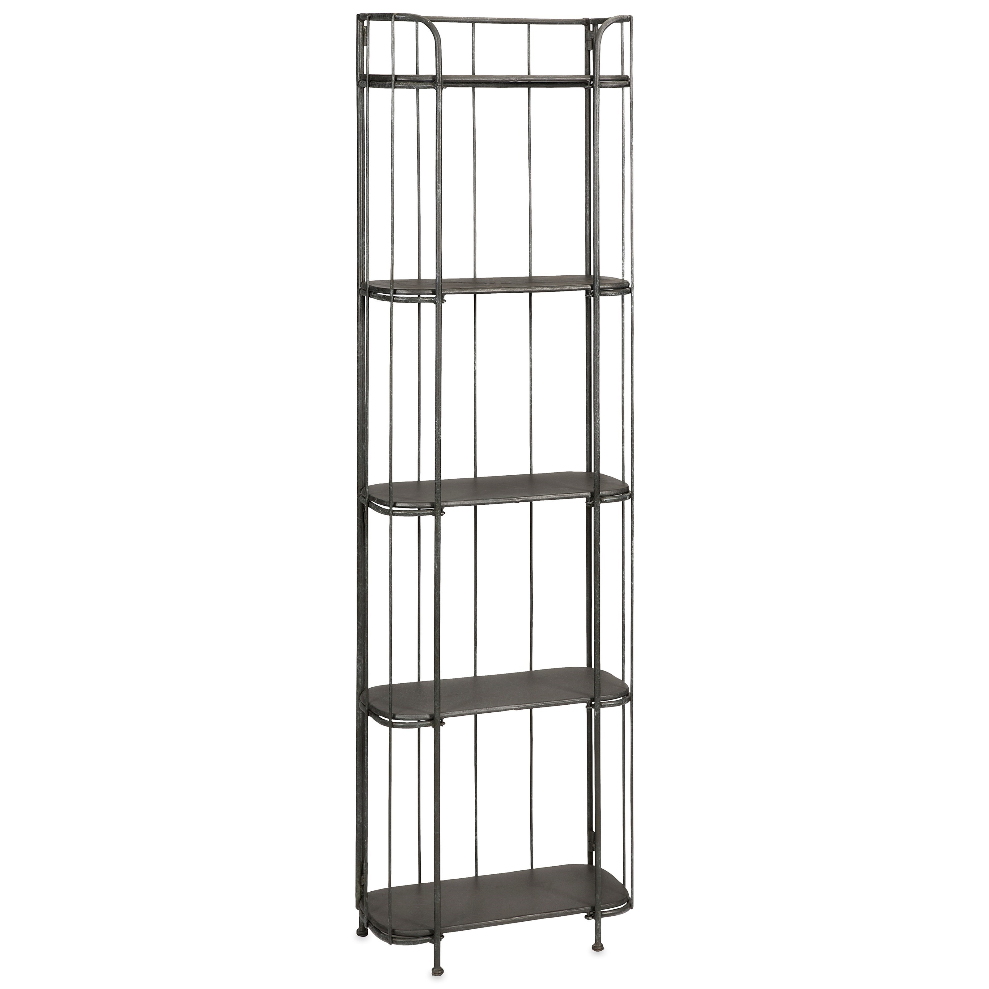 Accent Furniture Brasov Tall Iron Etagere by IMAX Worldwide Home at Alison Craig Home Furnishings