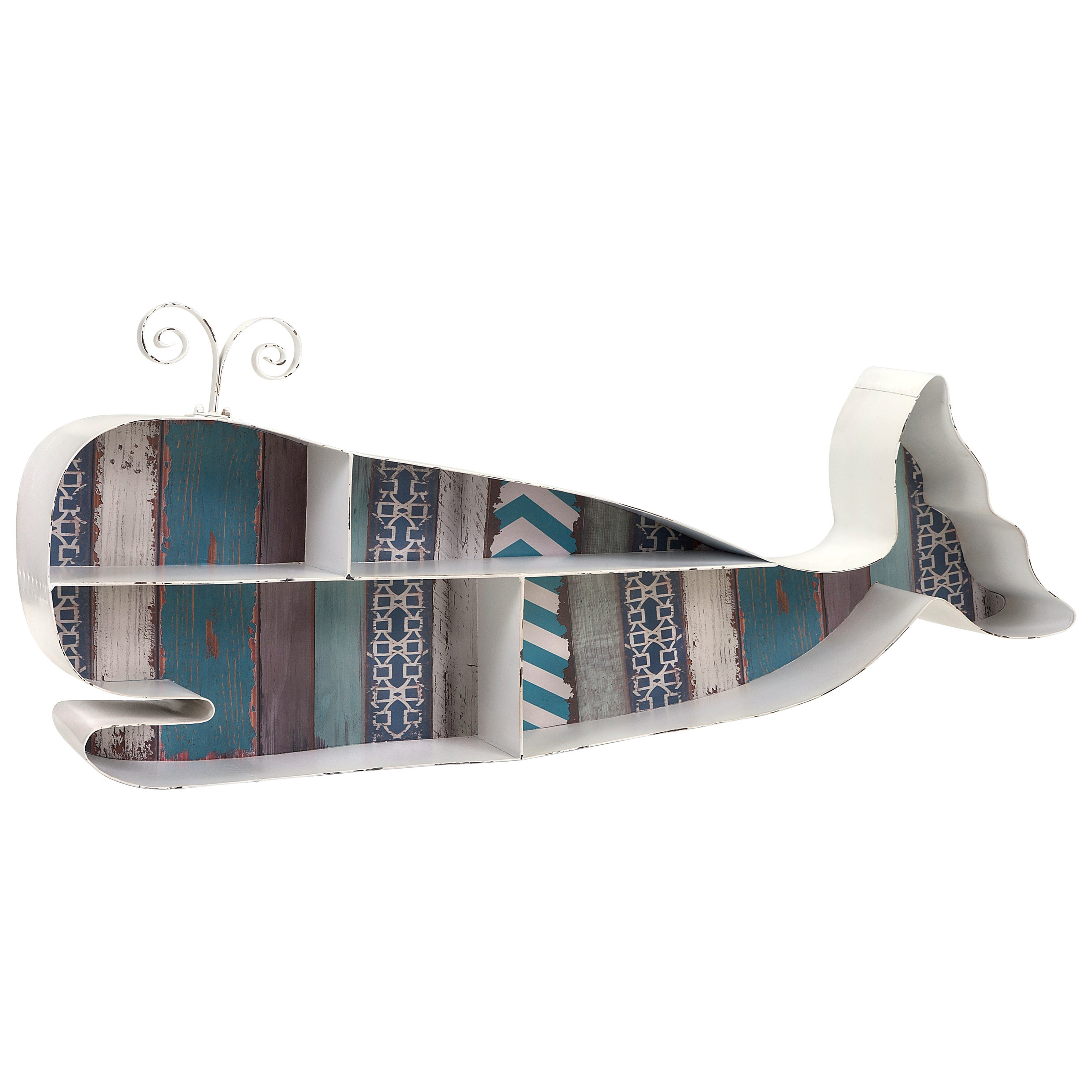 Accent Furniture Whale Wall Shelf by IMAX Worldwide Home at Alison Craig Home Furnishings