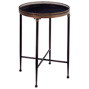 IMAX Worldwide Home Accent Tables and Cabinets Round Black Accent Table