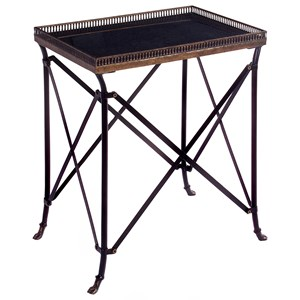 IMAX Worldwide Home Accent Tables and Cabinets Rectangular Black Accent Table