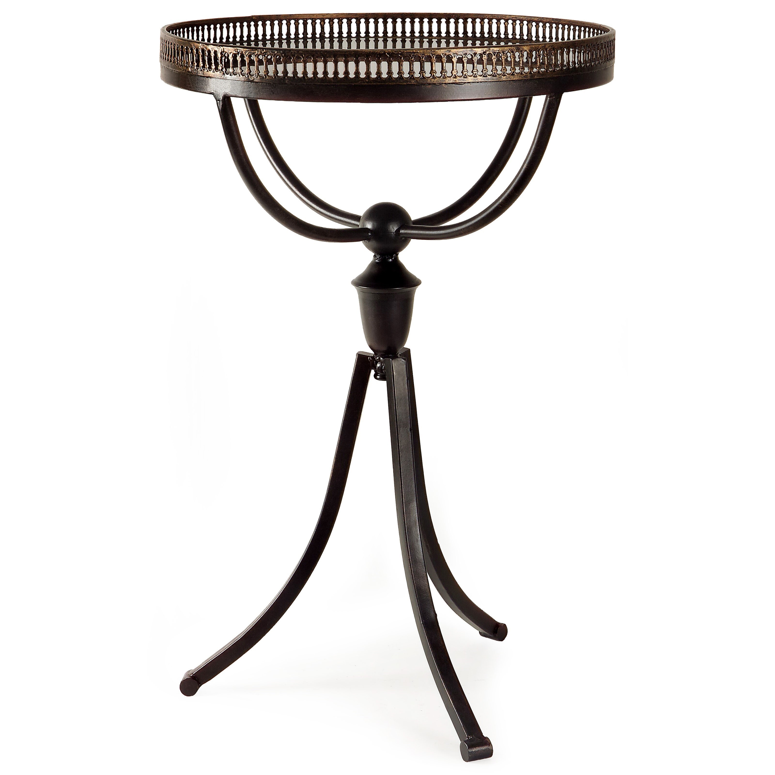 Accent Tables and Cabinets Empire Gallery Tri-footed Table by IMAX Worldwide Home at Alison Craig Home Furnishings
