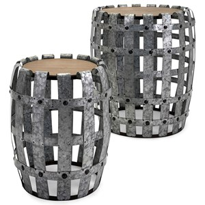 IMAX Worldwide Home Accent Tables and Cabinets Moxly Galvanized Tables - Set of 2