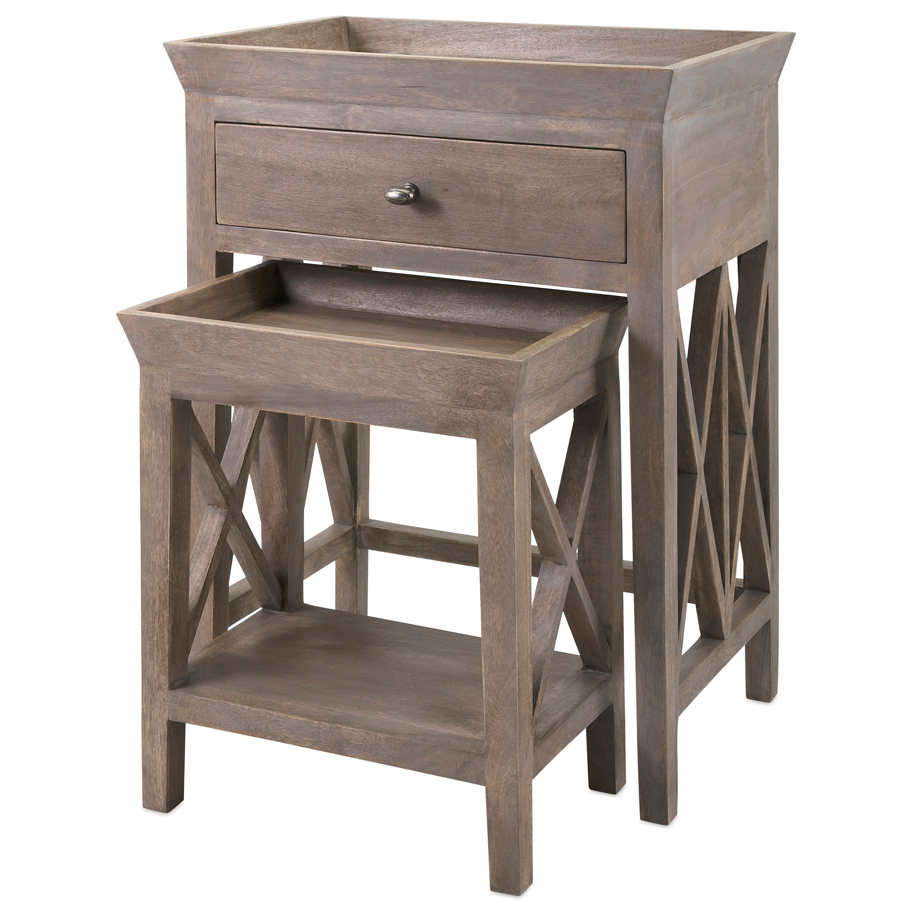 Accent Tables and Cabinets Britton Side Tables - Set of 2 by IMAX Worldwide Home at Alison Craig Home Furnishings