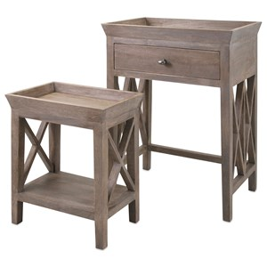 IMAX Worldwide Home Accent Tables and Cabinets Britton Side Tables - Set of 2