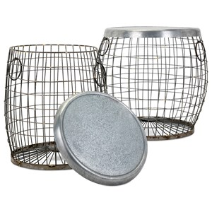 IMAX Worldwide Home Accent Tables and Cabinets Balaz Wire Tables - Set of 2