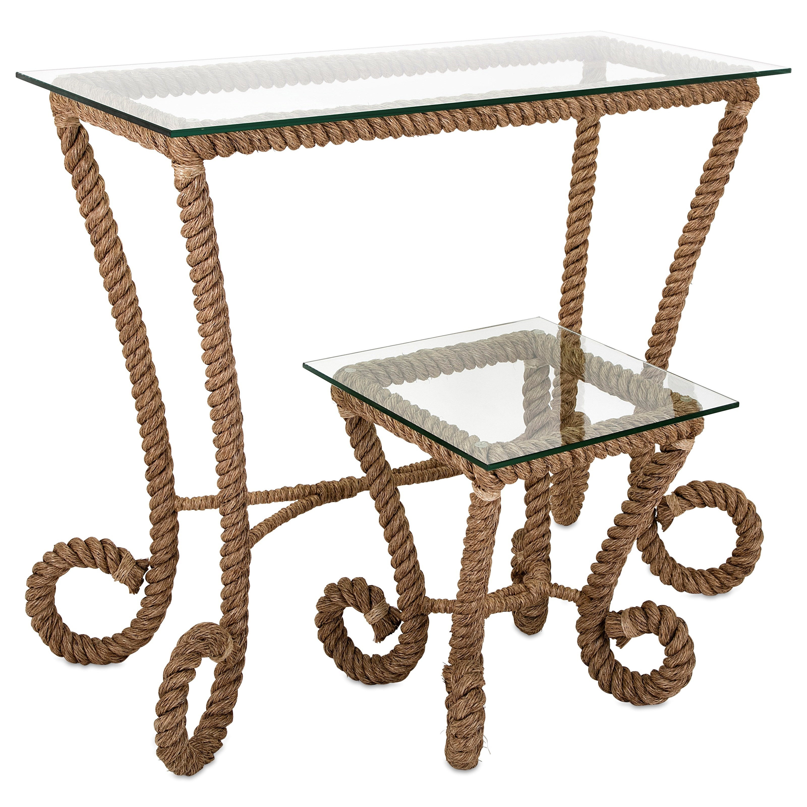 Accent Tables and Cabinets Tranquil Jute Console Table by IMAX Worldwide Home at Alison Craig Home Furnishings