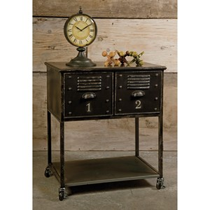 IMAX Worldwide Home Accent Tables and Cabinets Alastor 2-Drawer Rolling Cart Table