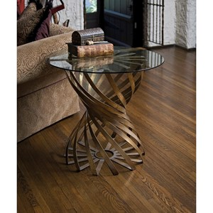 IMAX Worldwide Home Accent Tables and Cabinets Marceau Accent Table with Glass Top