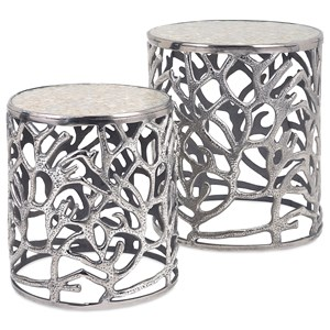 IMAX Worldwide Home Accent Tables and Cabinets Daltry Coastal Tables - Set of 2