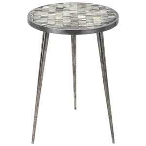 IMAX Worldwide Home Accent Tables and Cabinets Bolton Bone Top Drink Table
