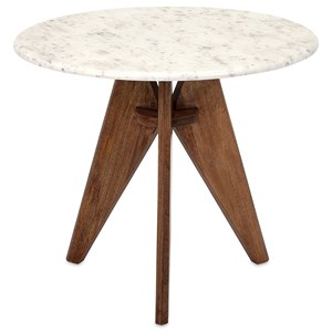 IMAX Worldwide Home Accent Tables and Cabinets Febe Tall Marble and Wood Table