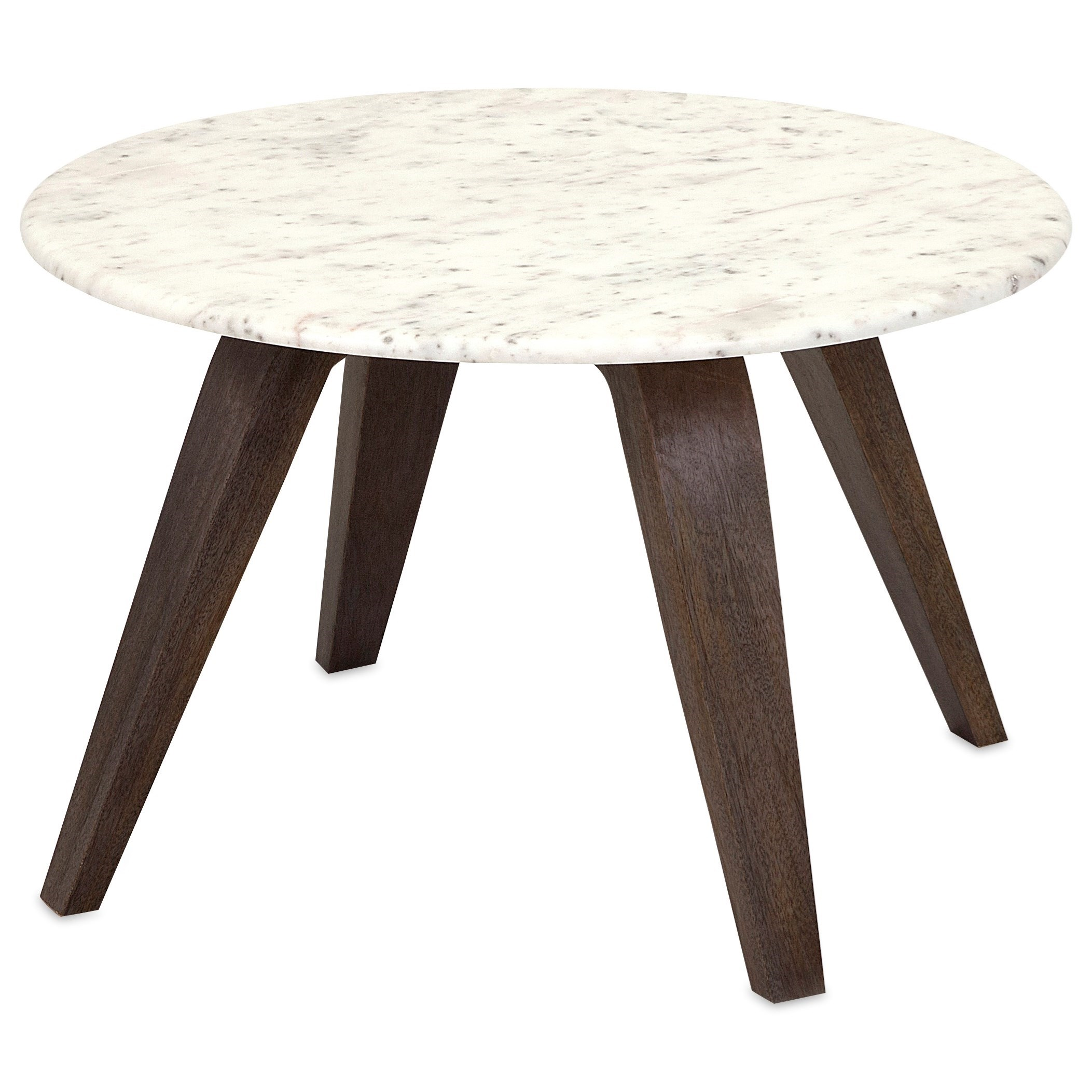 Febe Short Marble and Wood Table