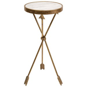 IMAX Worldwide Home Accent Tables and Cabinets Arrow Marble Top Table